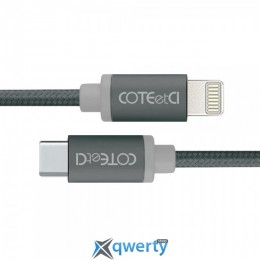 Coteetci M38 Type-C to Lightning Cable 1.2m Black (CS2151-BK)