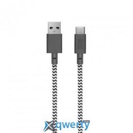 Native Union Belt Cable USB-A to USB-C Zebra (3 m) (BELT-KV-AC-ZEB-3)