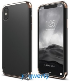 Elago Empire Case Chrome Rose Gold/Black for iPhone X (ES8EM-RGDBK)