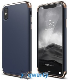 Elago Empire Case Chrome Rose Gold/Jean Indigo for iPhone X (ES8EM-RGDJIN)