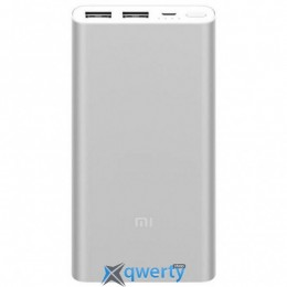 XIAOMI Mi Power Bank 2 10000 mAh QC2.0 (2.4A,2USB) (PLM09ZM) Silver (VXN4228CN)