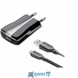 Cellular Line Compact USB Charger KIT microUSB black (ACHUSBKITMICROUSB2)