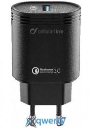 Cellular Line USB QC 3.0 black (ACHHUUSBQCK)