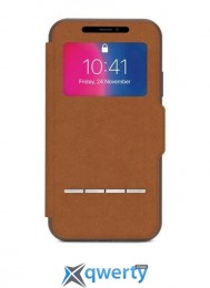Moshi Sensecover Slim Portfolio Case with Touch Cover Caramel Brown for iPhone X (99MO072731)