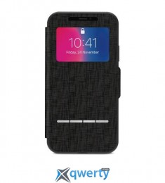Moshi Sensecover Slim Portfolio Case with Touch Cover Metro Black for iPhone X (99MO072010)
