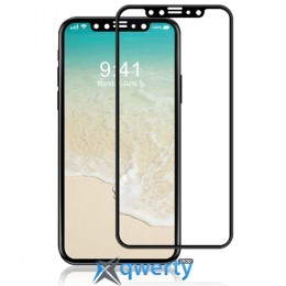 XO FD1 3D Curved Surface Full Screen Tempered Glass 0,26 mm Black for iPhone X