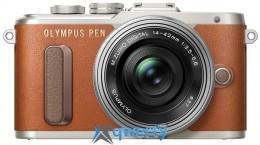 OLYMPUS E-PL8 14-42 mm Pancake Zoom Kit brown/silver (V205082NE000)
