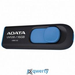 ADATA 64Gb UV128 black-blue USB 3.0 (AUV128-64G-RBE)