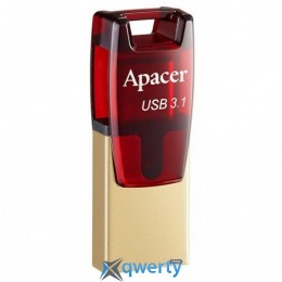 Apacer 64GB AH180 Red Type-C Dual USB 3.1 (AP64GAH180R-1)