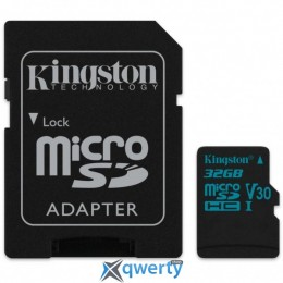 Kingston 32GB microSDHC class 10 UHS-I U3 Canvas Go (SDCG2/32GB)