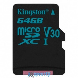 Kingston 64GB microSDXC class 10 UHS-I U3 Canvas Go (SDCG2/64GBSP)