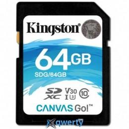 Kingston 64GB SDXC class 10 UHS-I U3 Canvas Go (SDG/64GB)