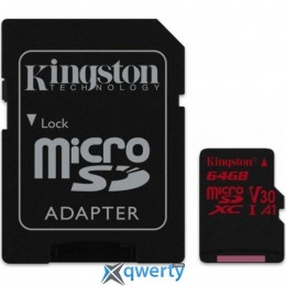 Kingston 64GB microSDXC class 10 UHS-I U3 (SDCR/64GB)