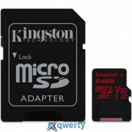Kingston 64GB microSDXC class 10 UHS-I U3 (SDCR/64GB) купить в Одессе