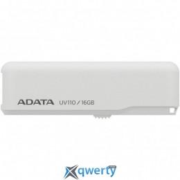 ADATA 16GB UV110 White USB 2.0 (AUV110-16G-RWH)