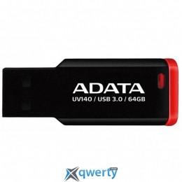 ADATA 64GB UV140 Black-Red USB 3.0 (AUV140-64G-RKD)
