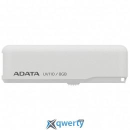 ADATA 8GB DashDrive UV110 White USB 2.0 (AUV110-8G-RWH)