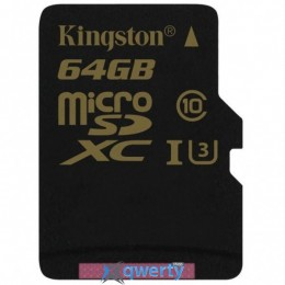 Kingston 64GB microSDHC class 10 UHS-I U3 (SDCG/64GBSP