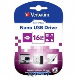 Verbatim 16GB Store n Stay Nano Black USB 2.0 (97464)