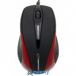 Esperanza Mouse EM102R Black-Red