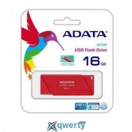 ADATA 16GB USB 3.1 UV330 Red (AUV330-16G-RRD)
