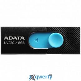ADATA 8GB UV220 Black/Blue USB 2.0 (AUV220-8G-RBKBL)