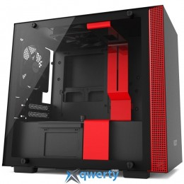 NZXT H200 Matte Black-Red (CA-H200B-BR)