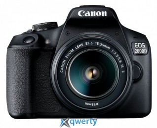 CANON EOS 2000D kit 18-55 IS II SB130 SD16GB Black (2728C015)