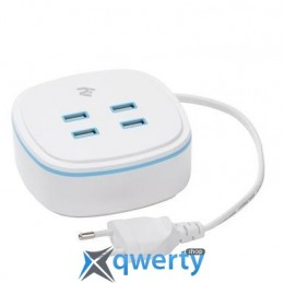 2Е на 4 USB Output A/B/C/D:DC5.0V/4.2A, cable 1.27m, white (2E-WC4USBM1.27-W)