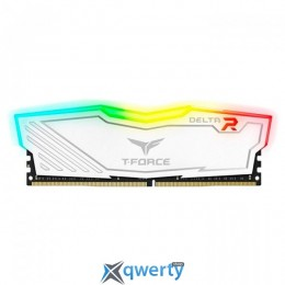 Team T-Force Delta DDR4-2400 8GB PC4-19200 White RGB LED (TF4D48G2400HC15B01)