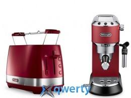 Кофеварка DeLonghi EC685R + Тостер DeLonghi CTLA 2103 R