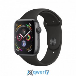 Apple Watch Series 4 GPS MU6D2 44mm Space Gray Aluminum Case with Black Sport Band MU6D2