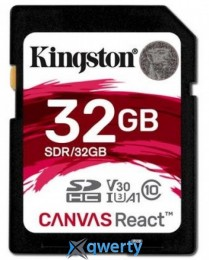 Kingston 32GB SDHC C10 UHS-I U3 R100/W80MB/s (SDR/32GB)