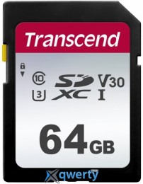 Transcend 64GB SDXC C10 UHS-I R95/W45MB/s (TS64GSDC300S)