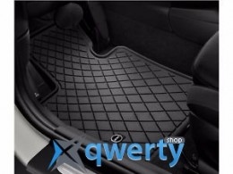 MINI Essential Black All Weather Floor Mats - Front (51472354155)