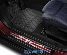 Mini Genuine All Weather Rear Rubber Floor Mats Essential Black (51472408523)