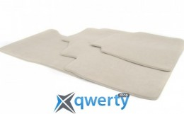 Велюровые коврики комплект 4шт. Светло-бежевый BMW G11 (51477427852)