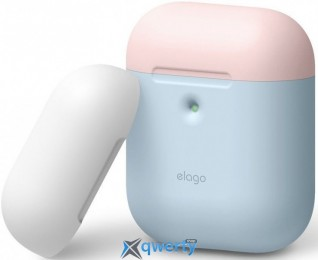 Elago A2 Duo Case Pastel Blue/Pink/White for Airpods with Wireless Charging Case (EAP2DO-PBL-PKWH)