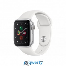 APPLE WATCH SERIES 5 GPS, 40MM SILVER ALUMINIUM CASE WITH WHITE SP (MWV62UL/A)