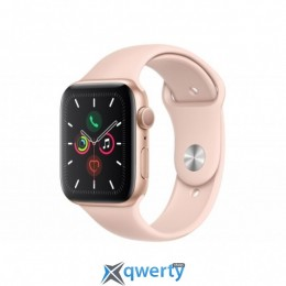 APPLE WATCH SERIES 5 GPS, 44MM GOLD ALUMINIUM CASE WITH PINK SAND (MWVE2UL/A)