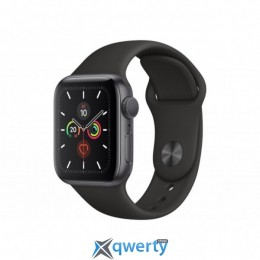 APPLE WATCH SERIES 5 GPS, 44MM SPACE GREY ALUMINIUM CASE WITH BLAC (MWVF2UL/A)