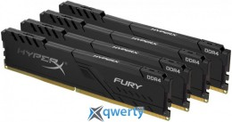 KINGSTON HyperX DDR4-2400 16GB PC4-19200 (4x4) Fury Black (HX424C15FB3K4/16)