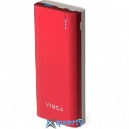 VINGA 10000 MAH QC3.0 PD SOFT TOUCH RED (BTPB3810QCROR)