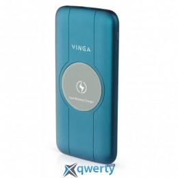 VINGA 10000 MAH WIRELESS QC3.0 PD SOFT TOUCH BLUE (BTPB3510WLROBL)