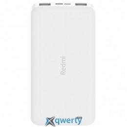 XIAOMI REDMI 10000MAH (IN 2.1A MICRO-USB,TYPE-C/ OUT 2*2.4A) WHITE (VXN4286)