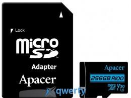 Apacer microSDXC 256GB UHS-I U3 V30 (AP256GMCSX10U7-R) + SD адаптер