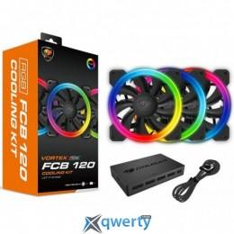 Cougar Vortex FCB 120 RGB + RGB Controller Hub (FCB RGB KIT)