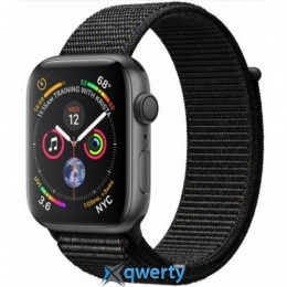 APPLE WATCH SERIES 4 GPS, 40MM SPACE GREY ALUMINIUM CASE WITH BLAC (MU672GK/A)