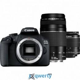 Canon EOS 2000D 18-55 + 75-300 kit (2728C021AA)