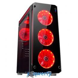 1stPlayer Firebase-X6 Red LED Black